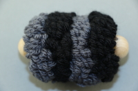 Black Large Pull Puff