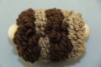 Brown Large Pull Puff