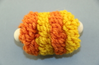 Orange Large Pull Puff