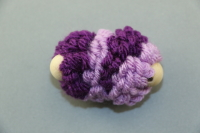 Purple Mini Pull Puff